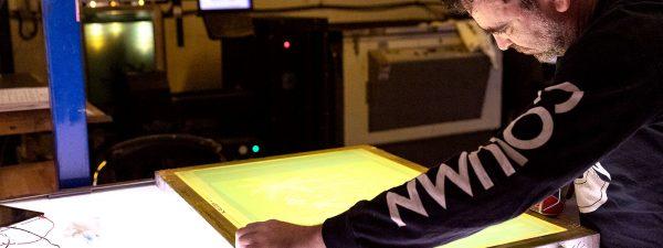 Screen printing t-shirts and custom clothing at Fifth Column printers.