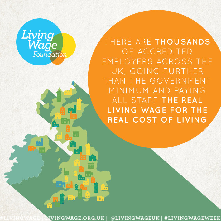 Celebrating the Living Wage Campaign - supporters