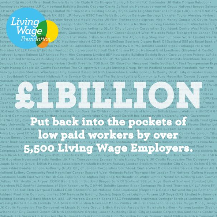Celebrating the Living Wage Campaign - billion