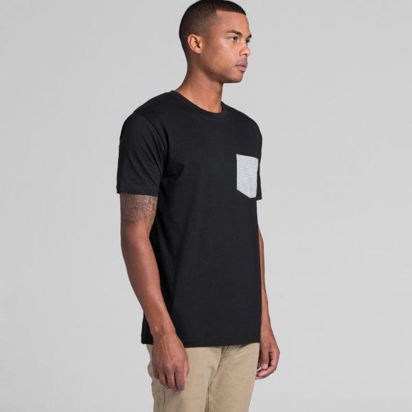 AS Colour staple pocket t-shirt printing at Fifth Column.