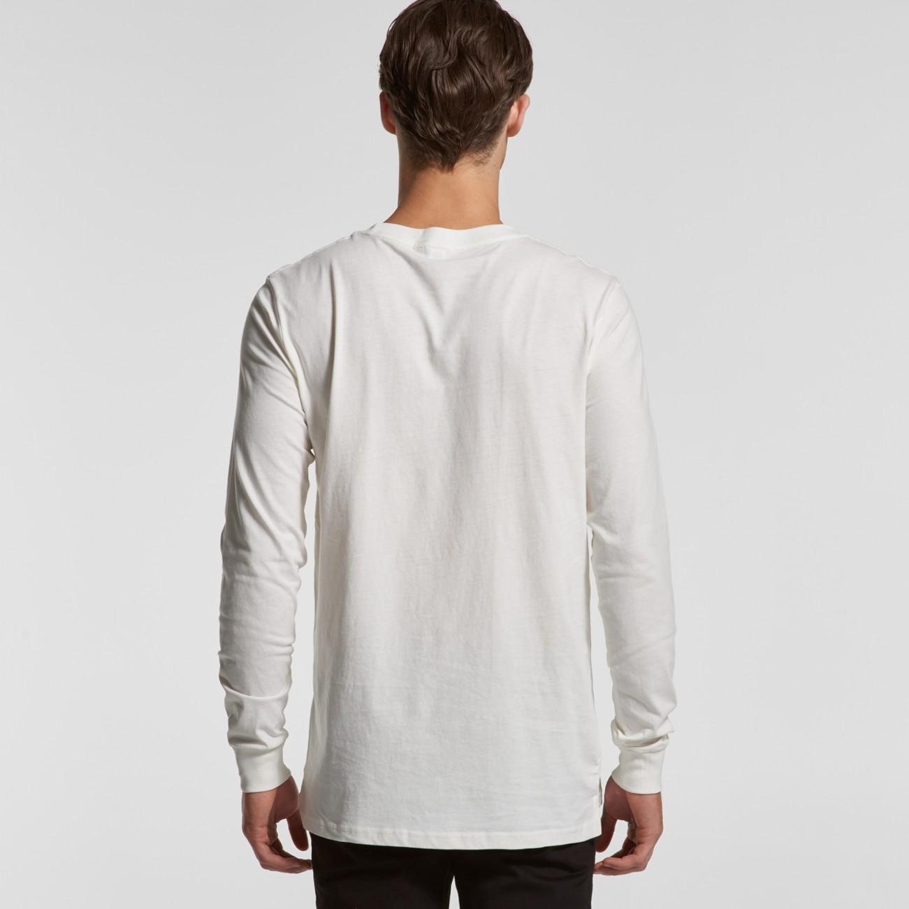Men's AS Colour Base long sleeve organic t-shirts.