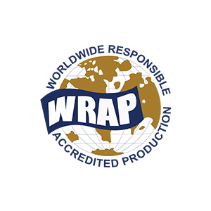 Logo for WRAP which stands for Worldwide Responsible Accredited Production.
