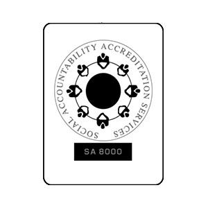 Neutral Certified Responsibility Social Accountability Accreditation SA 800 logo.