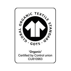 Neutral Certified Responsibility Global Organic Standard (GOTS) logo.