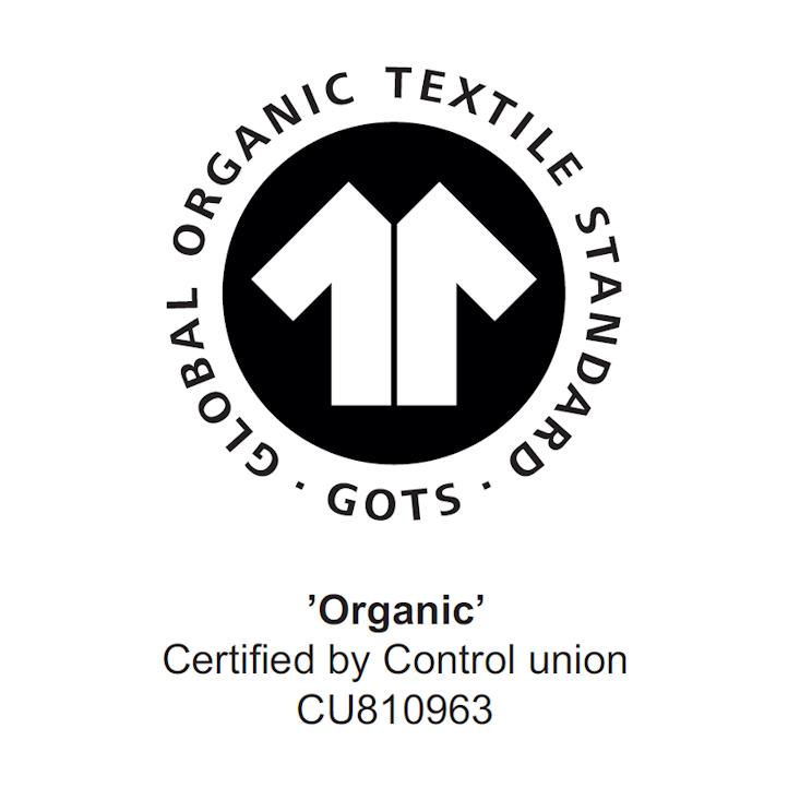 100% GOTS Organic Cotton