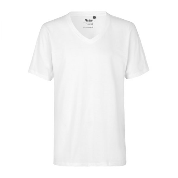 O61015 MENS DEEP V-NECK T-SHIRT 1
