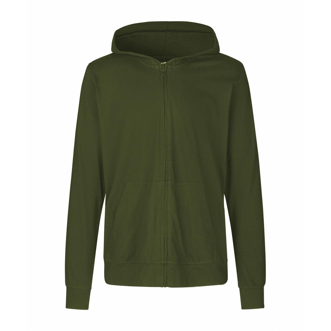 Neutral Jersey Zip Hoodie O62301 1