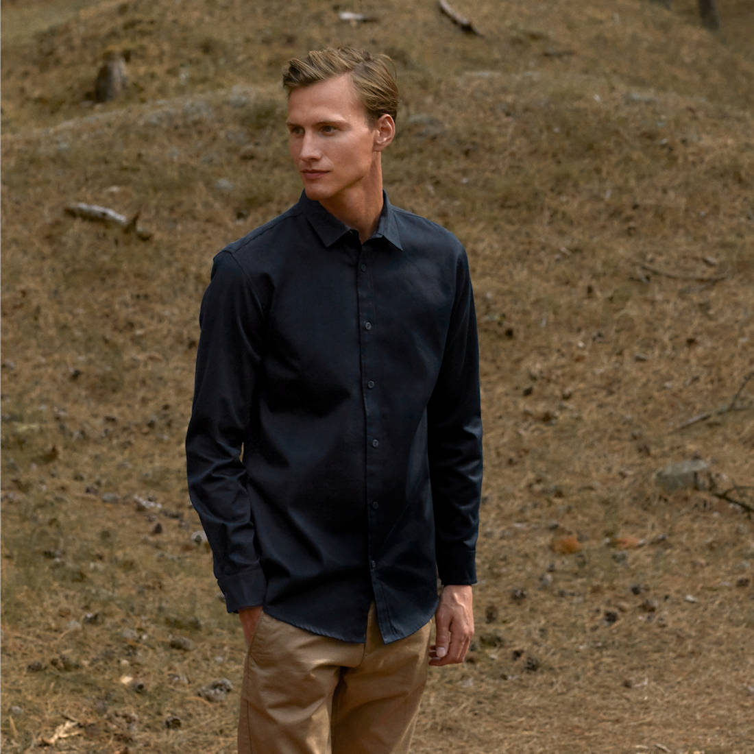 Neutral Twill Shirt O67001