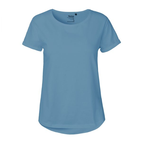 O80012 LADIES ROLL UP SLEEVE T-SHIRT 1