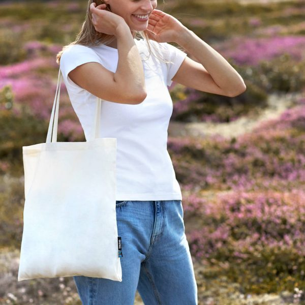 Neutral Long Handle Shopping Bag O90014