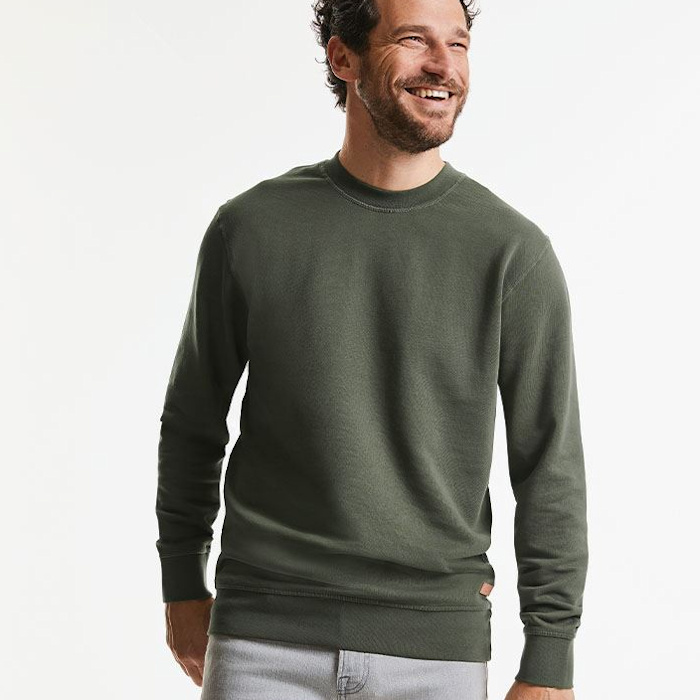 Ethical Workwear - Sustainable Corporate Clothing - Russell Organic Sweatshirt