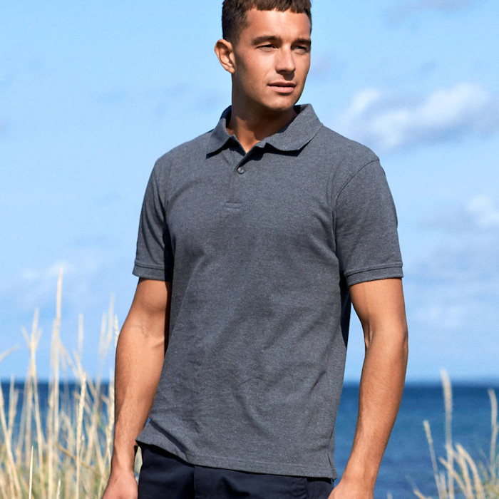 Ethical Workwear - Sustainable Corporate Clothing - Neutral Mens Classic Polo
