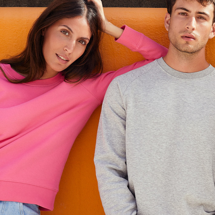 Stanley Stella officially top sustainable clothing brands - sweatshirts