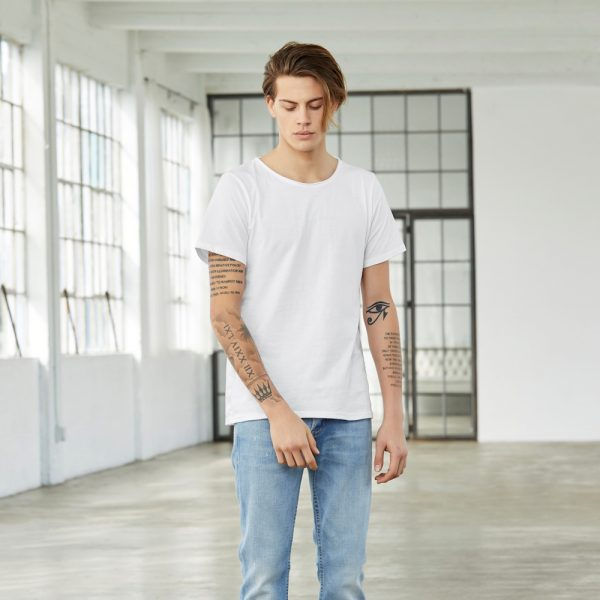 bella canvas 3014 mens jersey raw neck tee