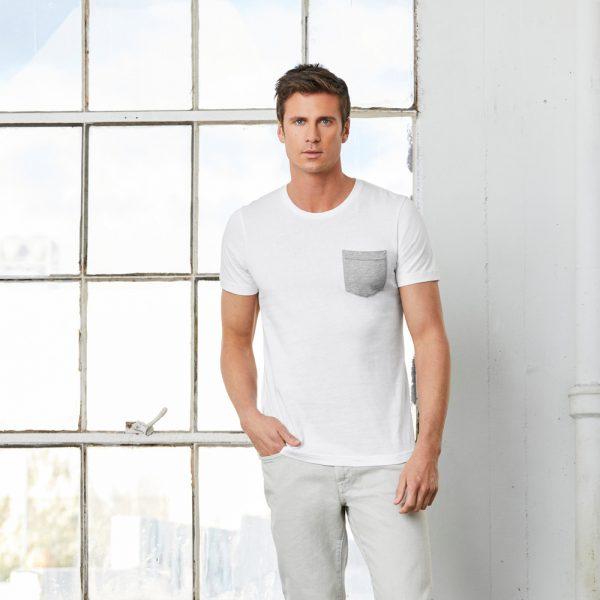 bella canvas 3021 mens jersey pocket tee