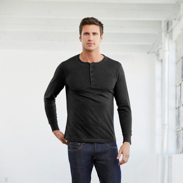 bella canvas 3150 mens jersey long sleeve henley