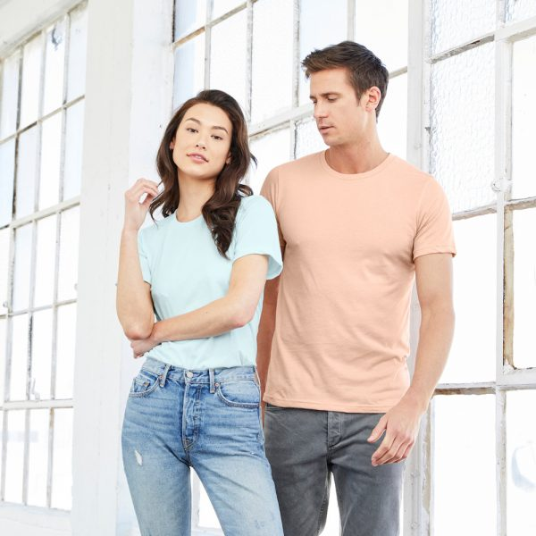 bella canvas 3301 unisex sueded tee