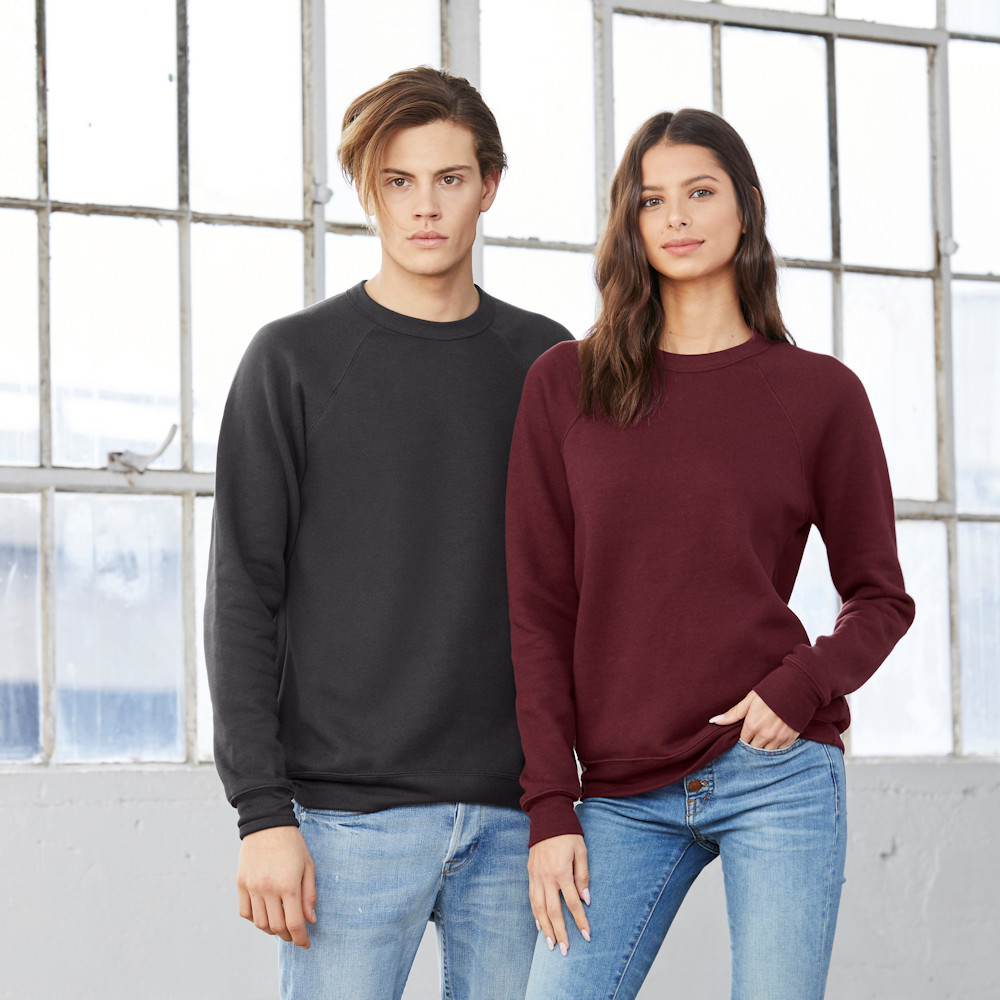 bella canvas 3901 unisex raglan sweatshirt