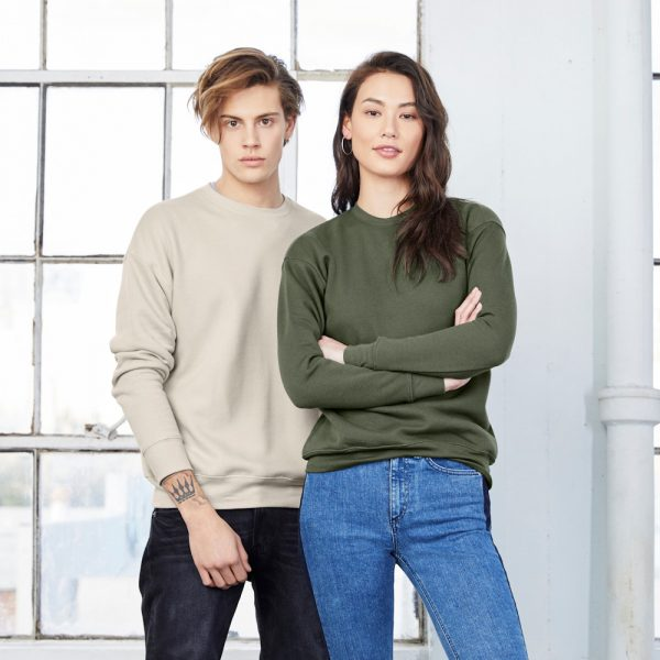bella canvas 3945 unisex drop shoulder fleece sweatshirt