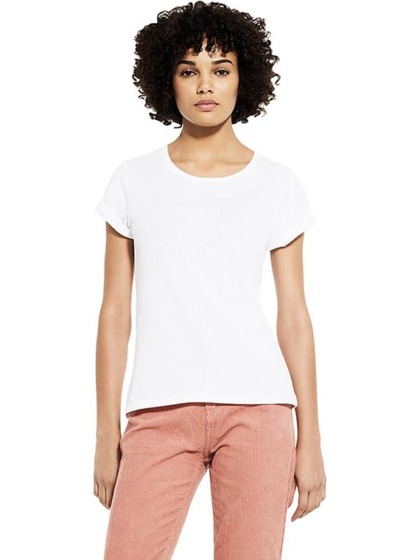 Earth Positive womens rolled sleeve t-shirt EP12.