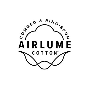 Bella and Canvas Airlume combed and ringspun cotton logo.