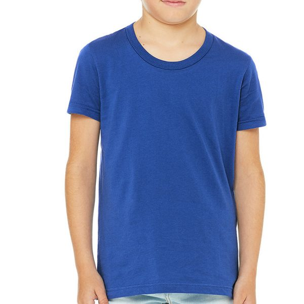 Bella and Canvas youth jersey t-shirt 3001Y, available for printing at Fifth Column UK printers.