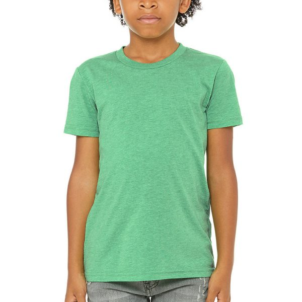Bella and Canvas youth triblend t-shirt 3413Y, available for printing at Fifth Column.