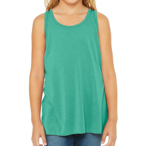 Bella and Canvas youth flowy racerback tank top 8800Y, available for printing at Fifth Column printers.