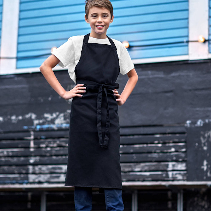 Eco-Friendly Aprons for Printing and Embroidery - Neutral kids apron