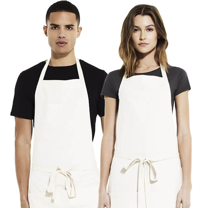 Eco-Friendly Aprons for Printing and Embroidery - Salvage recycled bib apron
