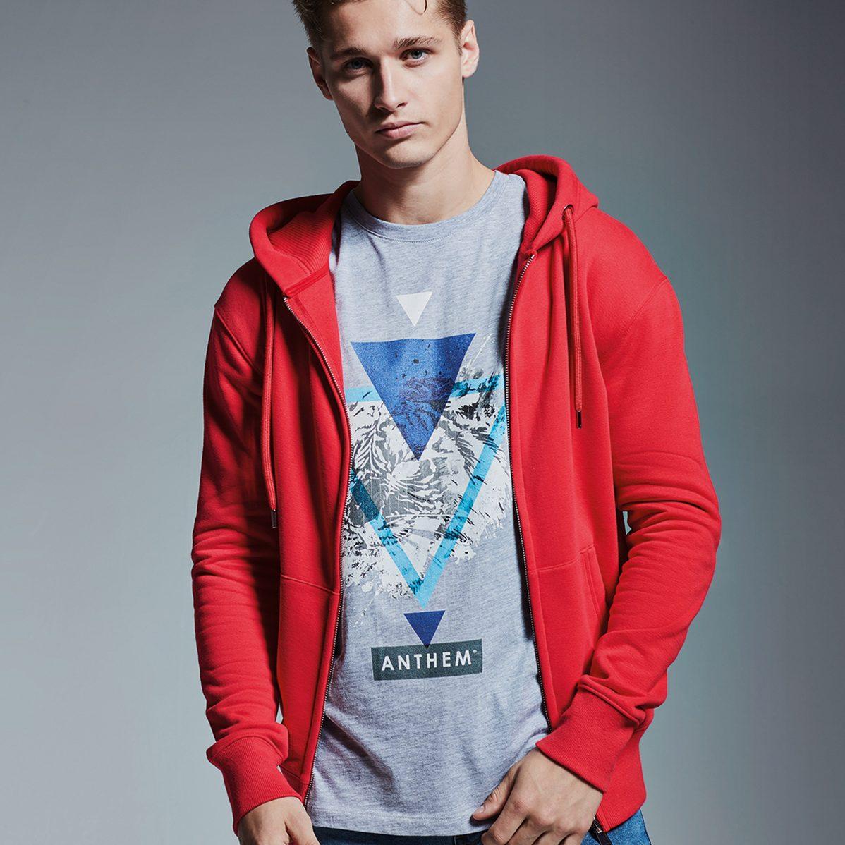 AM002 Anthem men's zip hoodie.