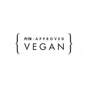 Logo for Peta, vegan approved, at Fifth Column, UK printers.