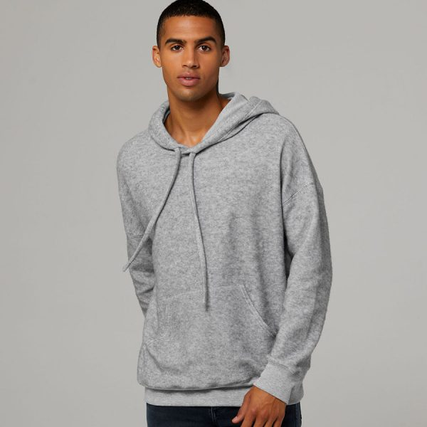 Bella + Canvas Sueded Fleece Pullover Hoodie a