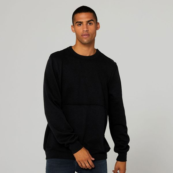 bella canvas Unisex Raw-Seam Crew Pullover 3743 a