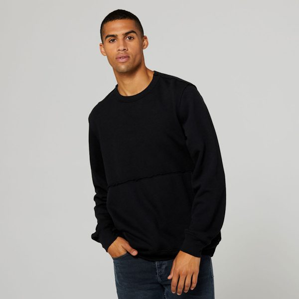 bella canvas Unisex Raw-Seam Crew Pullover 3743 b