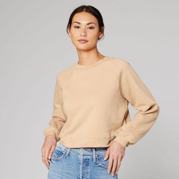 bella canvas Womens Raglan Pullover Fleece 7505 a