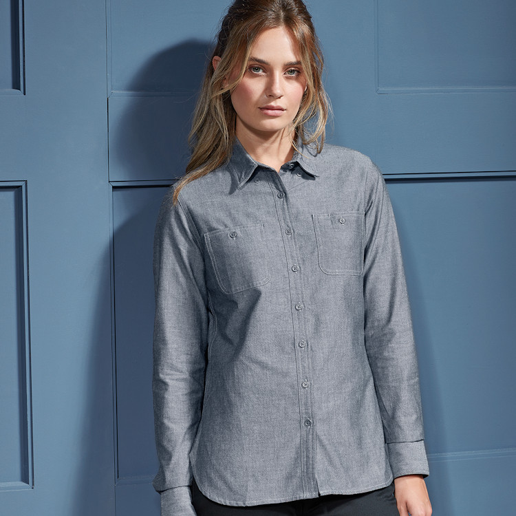Hot New Products for Hospitality - PR347 Women's Chambray Shirt