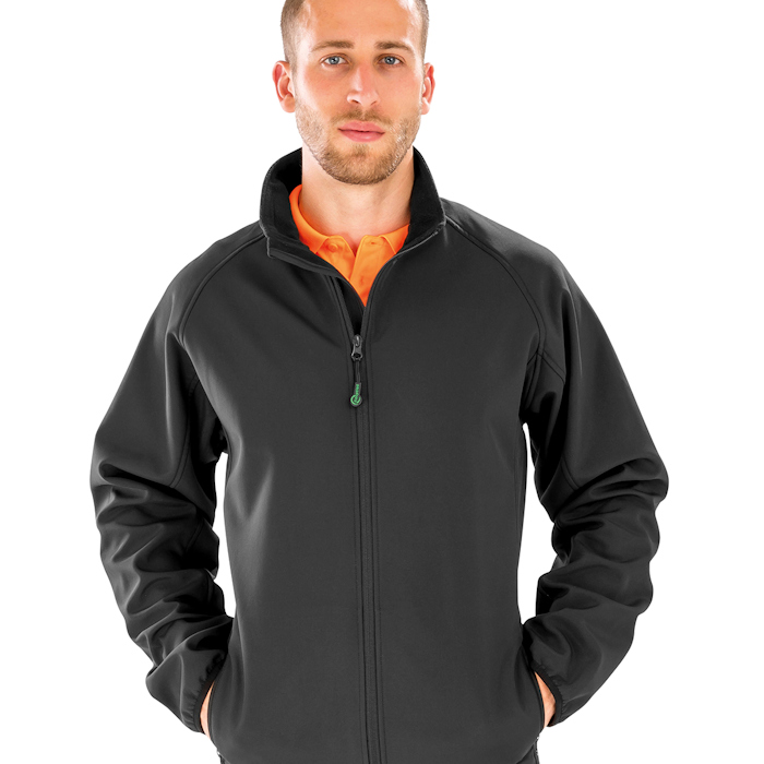R901M men's recycled jacket, part of the range of Result Genuine Recycled blank clothing.