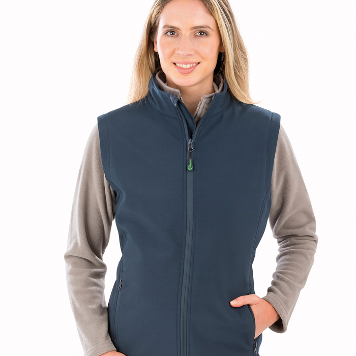 R902F women's 2-layer bodywarmer, part of the range of Result Genuine Recycled blank clothing.