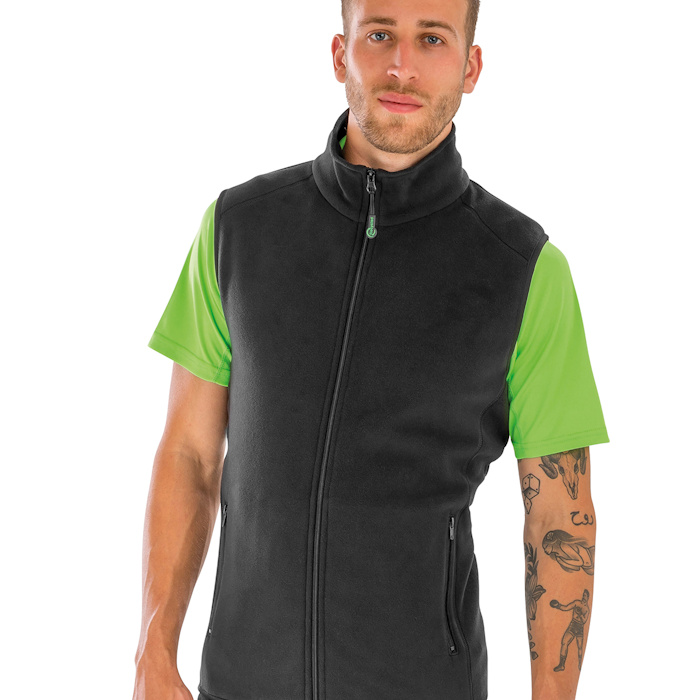 R904X polarthermic bodywarmer, part of the range of Result Genuine Recycled blank clothing.