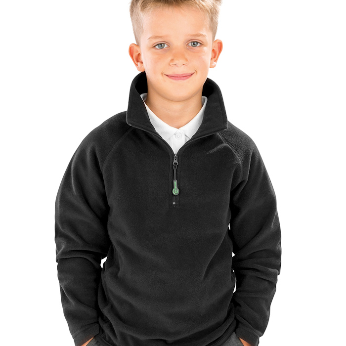 R905J junior microfleece, part of the range of Result Genuine Recycled blank clothing.