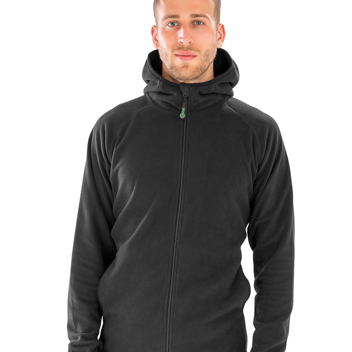 R906X hooded microfleece, part of the range of Result Genuine Recycled blank clothing.