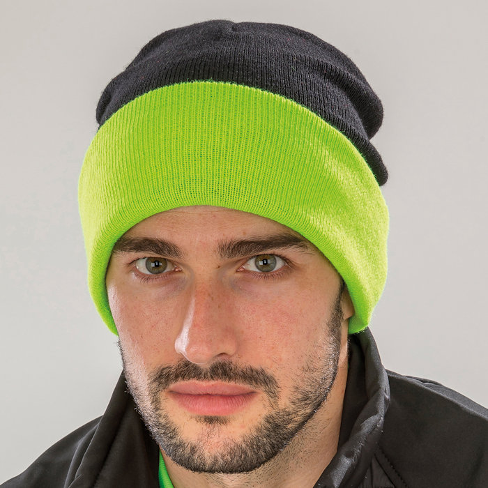 RC930 recycled Compass beanie, part of the range of Result Genuine Recycled blank clothing.