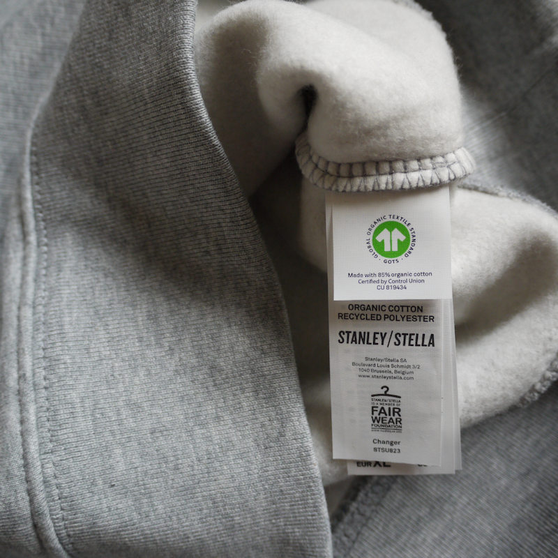 Ethical and organic in a review of the Stanley Stella Changer sweatshirt.