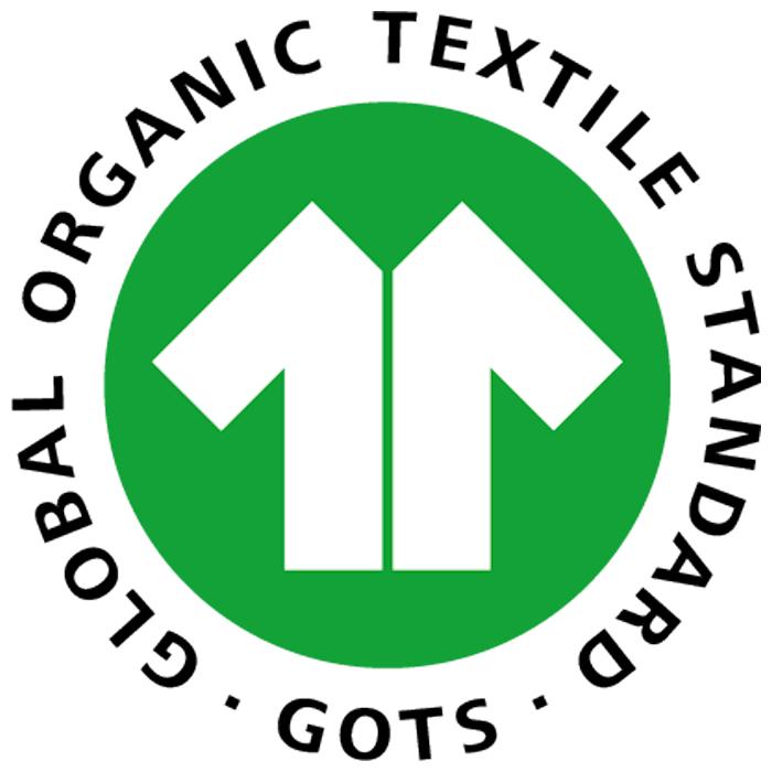 The Global Organic Textile Standard badge.