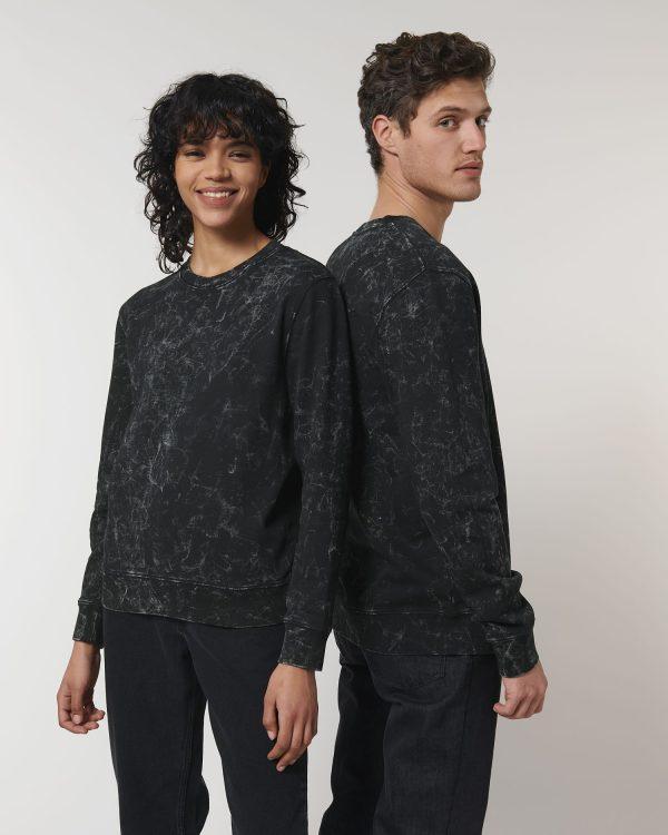 Stanley Stella Changer Splatter sweatshirt at Fifth Column printers.