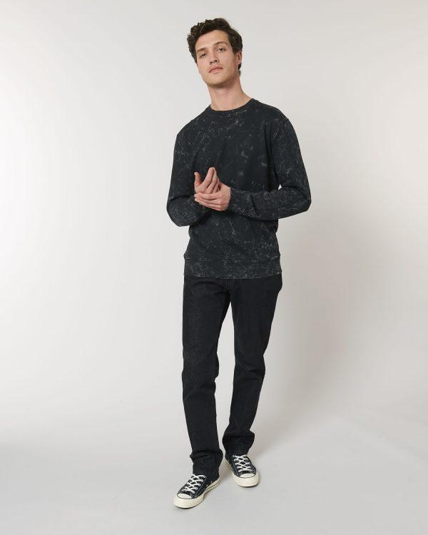 Changer Splatter sweatshirt printing and embroidery.