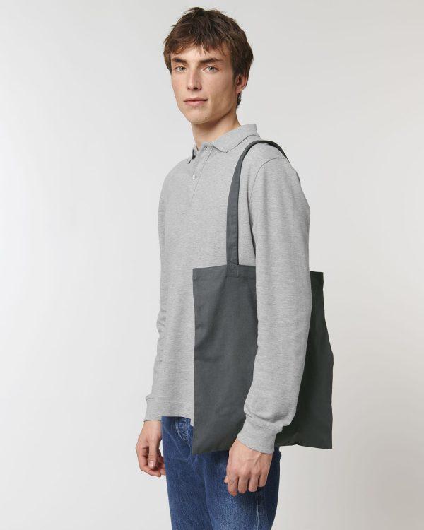 Anthracite grey light tote bag.